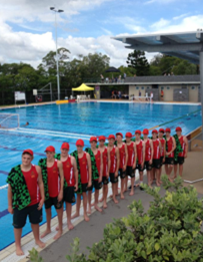 Tastex supplied uniforms for the Tasmanian Under 14 Water Polo Team