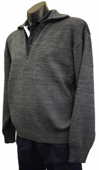 Heavyweight half-zip, full collar jumper.
