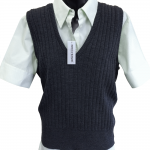 Ladies extra-light weight ribbed vest.