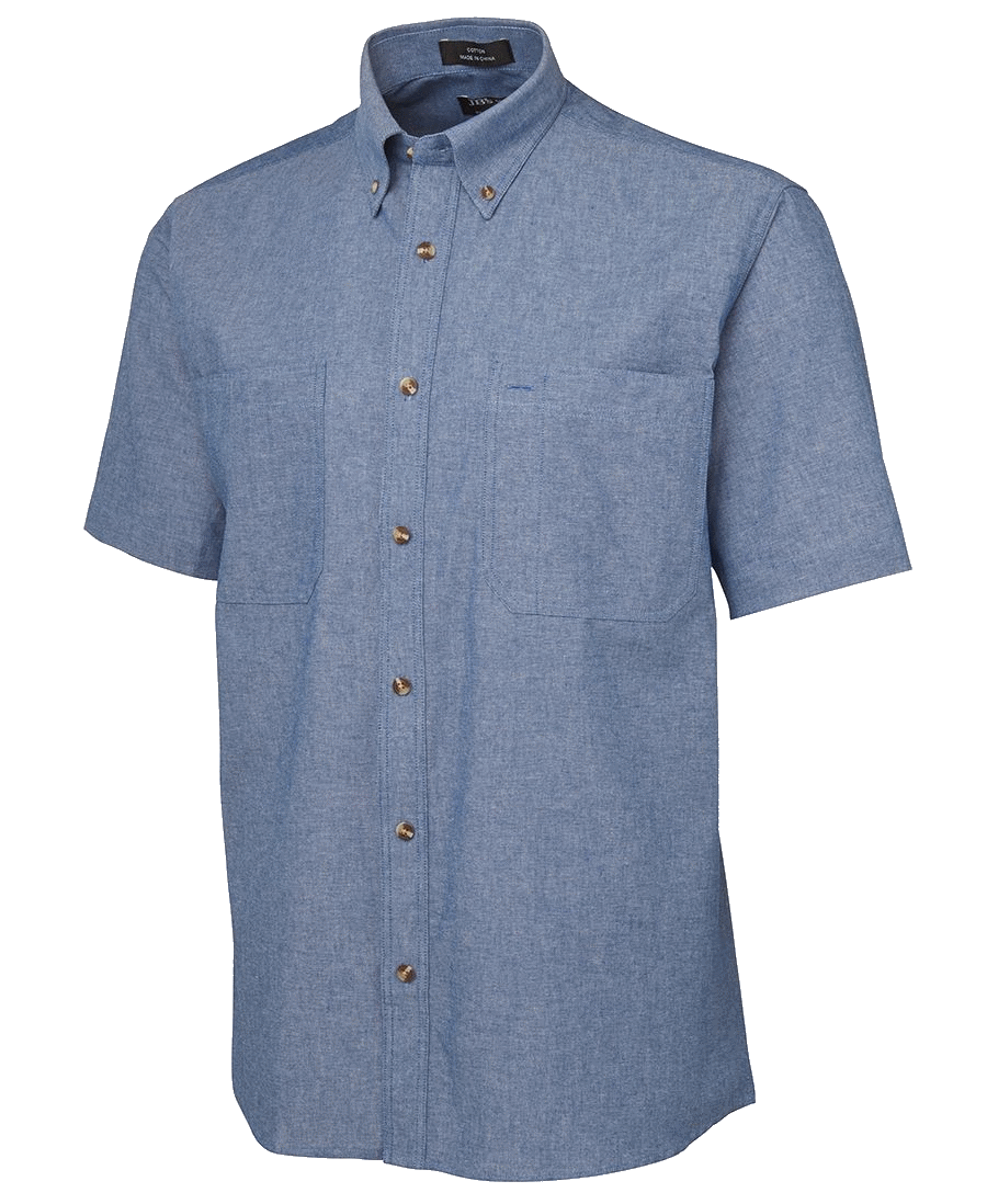 Mens cotton chambray shirt 4CUS