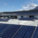 Tastex factory roof with solar panels