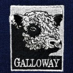 Embroidered logo for The Australian Galloway Association.