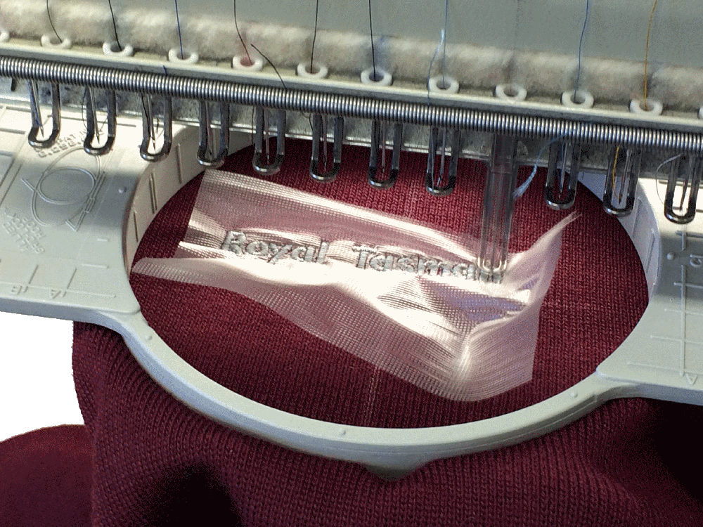 Our embroidery machines at work