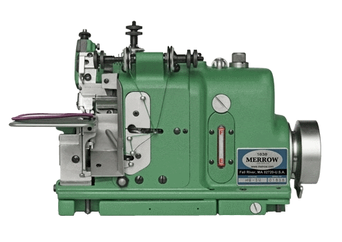 Merrow badge edging machine