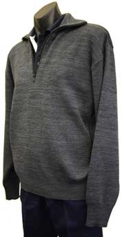 Tastex heavyweight half-zip jumper