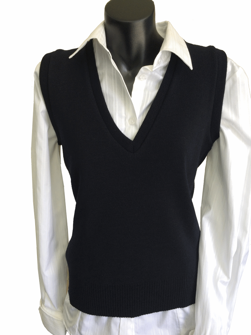 Ladies Glen Mill lightweight vest 80% pure wool / 20% nylon