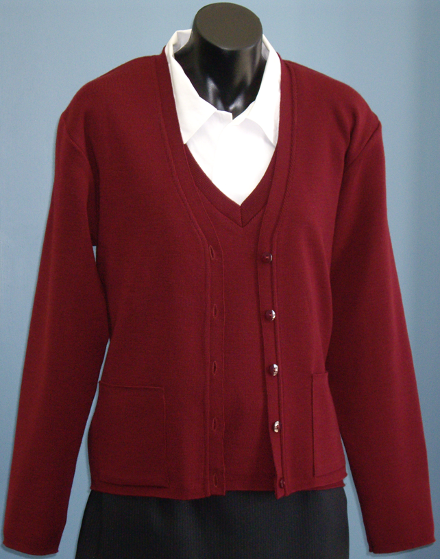 Tastex fitted vest and cardigan