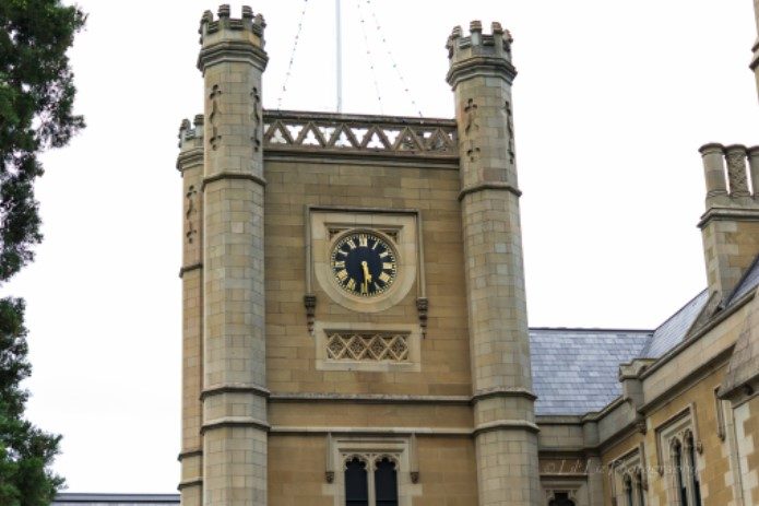 historic clock tower at Government House