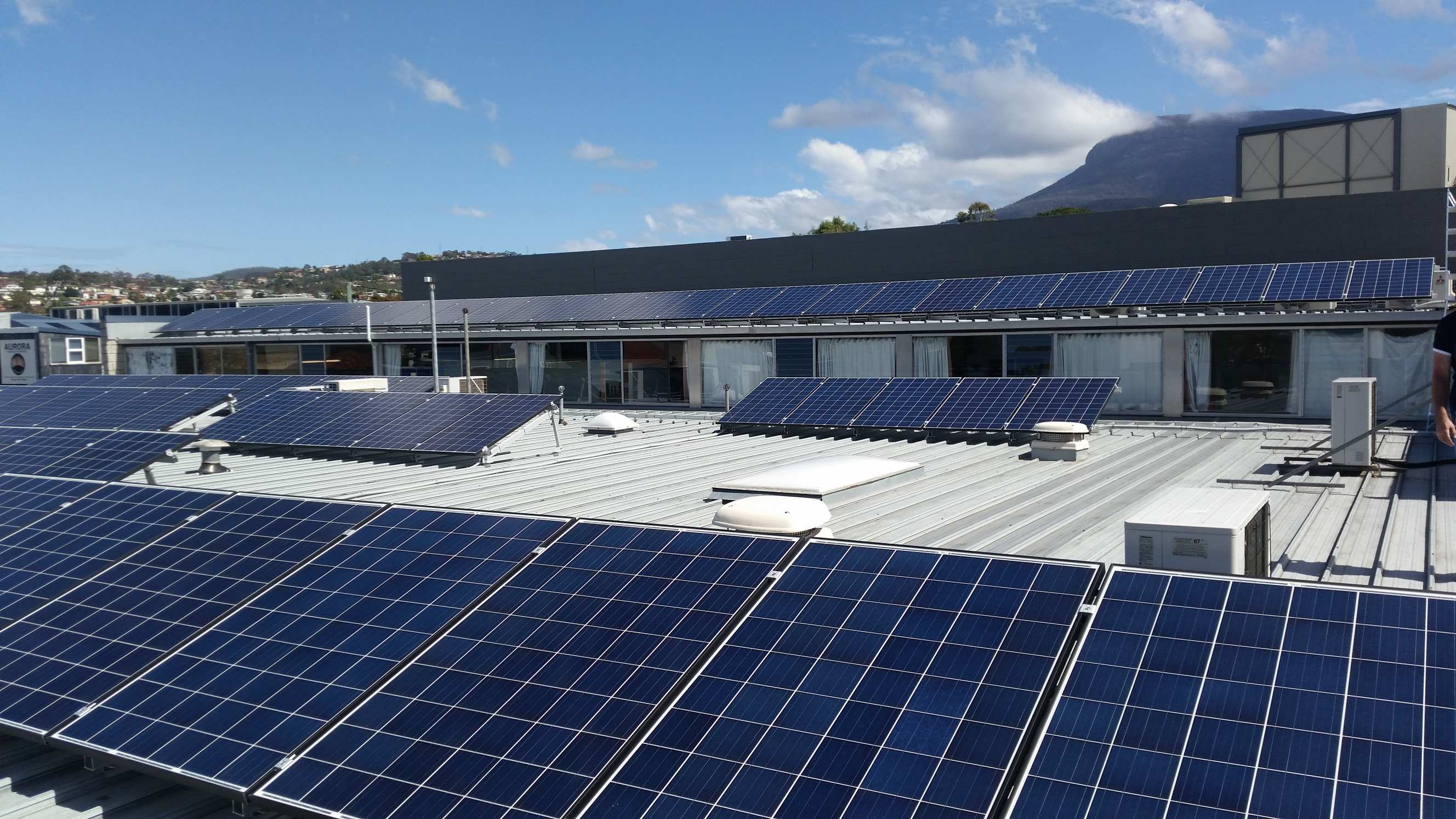 Tastex factory roof with solar panbels