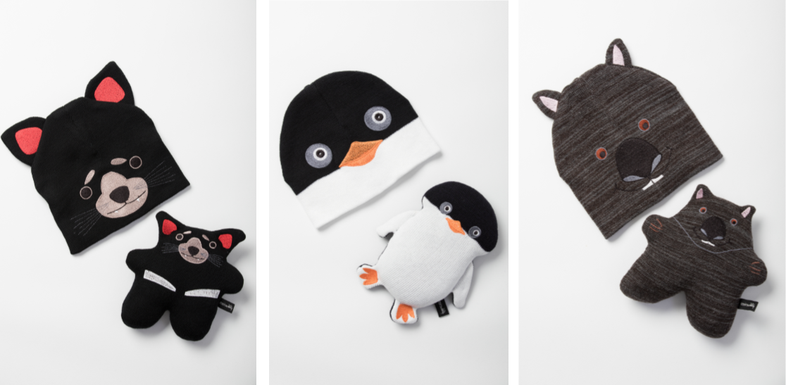 Envirowoolly pairs - Beanie and Toy