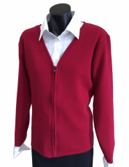 Ladies corporate v-neck zipped cardigan