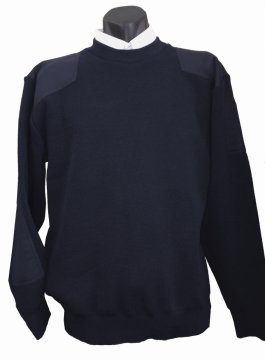 Mens Mediumweight Fisher Knit Jumper.